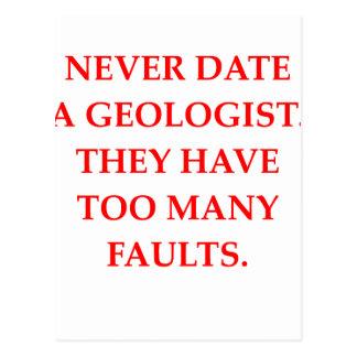 GEOLOGIST POSTCARD