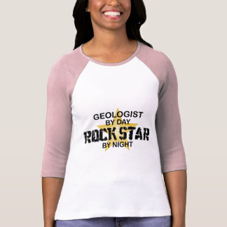 Geologist Rock Star by Night T-Shirt