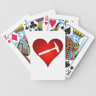 Geologist's Heart and Rock Hammer Bicycle Playing Cards