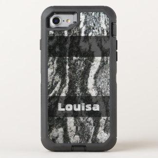 Geology Decorative Feline Rock Texture any Text OtterBox Defender iPhone 8/7 Case