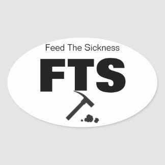Geology & Fossils Feed the Sickness Set of FOUR! Oval Sticker