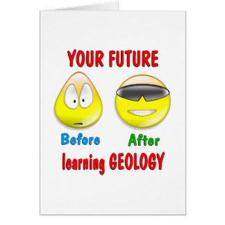 Geology Future Greeting Card