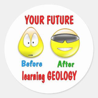 Geology Future Round Sticker