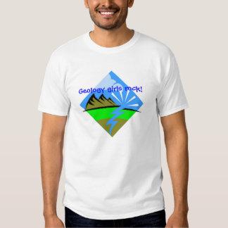Geology girls rock! tee shirt