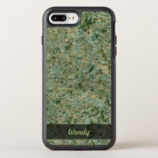 Geology Green Rock Texture Photo OtterBox Symmetry iPhone 8 Plus/7 Plus Case