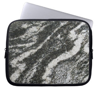 Geology Grey Rock with Diagonal Cat Pattern Computer Sleeves