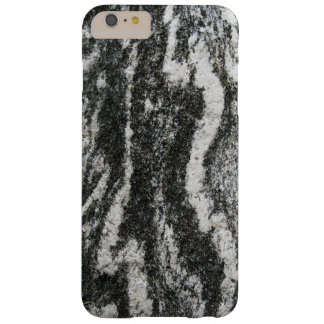 Geology Grey Rock with Feline Pattern Barely There iPhone 6 Plus Case