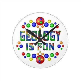 Geology is Fun Round Clock