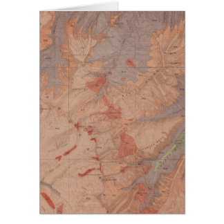 Geology Map, Yellowstone National Part, Wyoming 2 Card