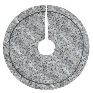 Geology Rock White Granite Brushed Polyester Tree Skirt