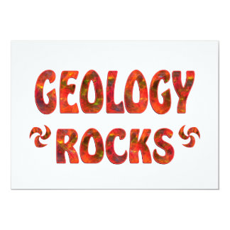 "GEOLOGY ROCKS 5"" X 7"" INVITATION CARD"