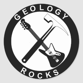 Geology Rocks Adhesive Classic Round Sticker