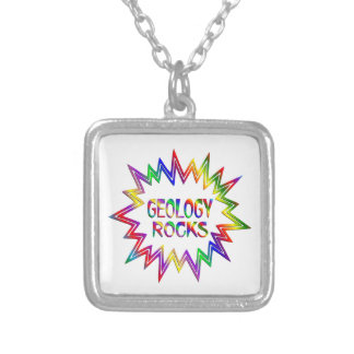Geology Rocks Silver Plated Necklace