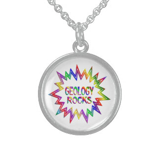 Geology Rocks Sterling Silver Necklace