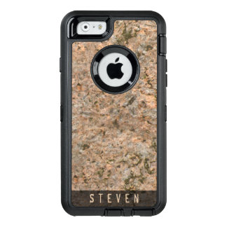 Geology Rough Rock Texture Custom Name OtterBox iPhone 6/6s Case