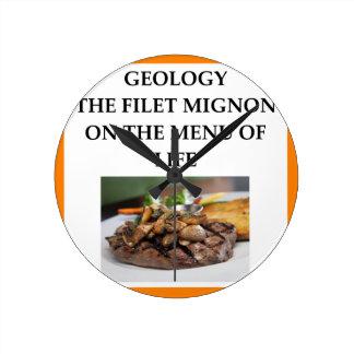 GEOLOGY ROUND CLOCK