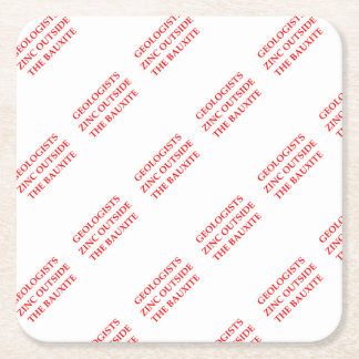 geology square paper coaster