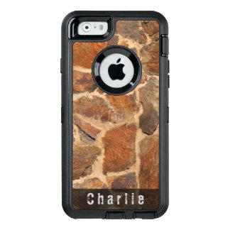 Geology Stone Wall Structure Warm Golden any Text OtterBox iPhone 6/6s Case