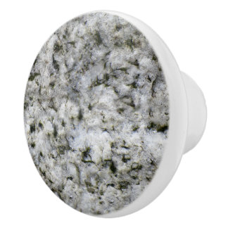 Geology White Granite Rock Texture Ceramic Knob