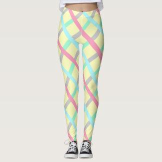 Geometic Pattern Stripes multicolor pastel legging
