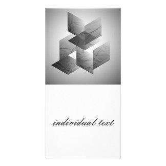 Geometric 01 black and white photo card