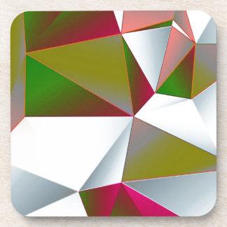 Geometric 02 green coaster