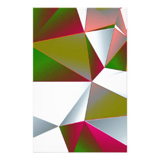 Geometric 02 green stationery design