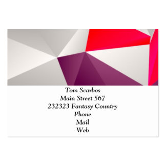 Geometric 02 red business card templates