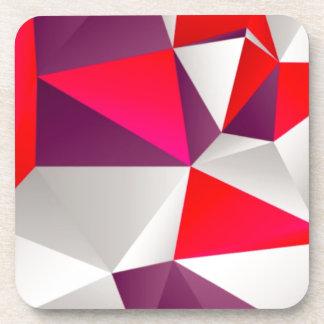 Geometric 02 red beverage coaster