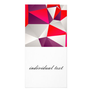 Geometric 02 red photo card template