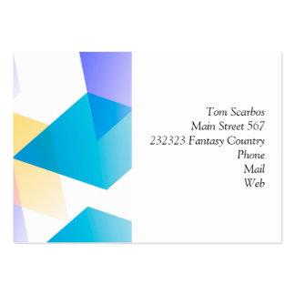 Geometric 03 blue business card template