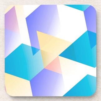 Geometric 03 blue drink coasters