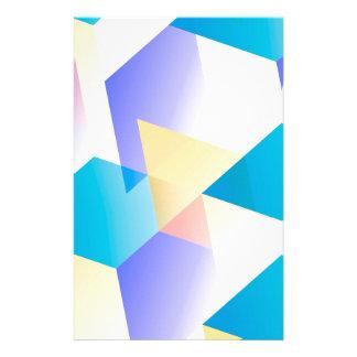 Geometric 03 blue custom stationery