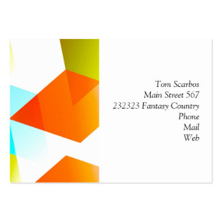 Geometric 03 orange business card template
