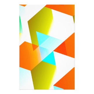 Geometric 03 orange stationery paper