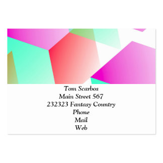 Geometric 03 pink business cards