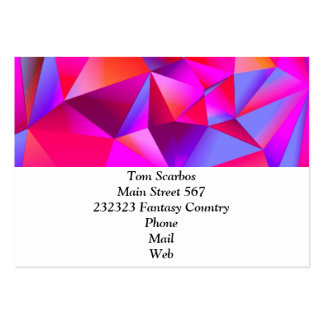 geometric 05 hot business cards