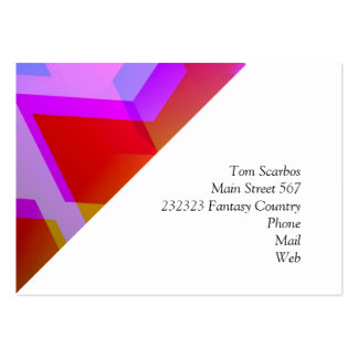 geometric 06 pink business card template