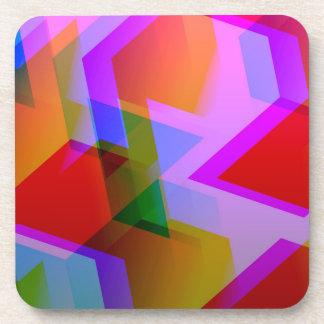 geometric 06 pink coaster