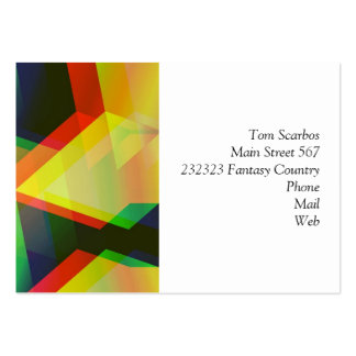 geometric 06 yellow business card templates