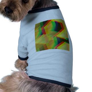 Geometric 06 yellow pet shirt