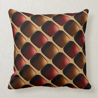 Geometric 3d Design Modern Rust Gold Metro Look Throw Pillow