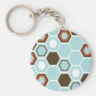 Geometric Abstract Art Design Key Chains