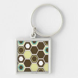 Geometric Abstract Art Design Keychain