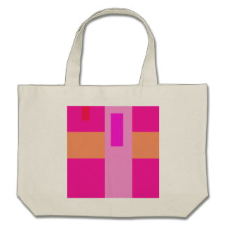 Geometric Abstract Art Minimal Pink Bags