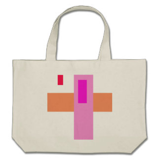 Geometric Abstract Art Minimal Pink Tote Bags