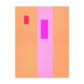 Geometric Abstract Art Minimal Pink Canvas Prints