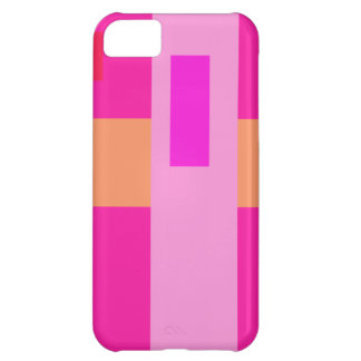 Geometric Abstract Art Minimal Pink Cover For iPhone 5C
