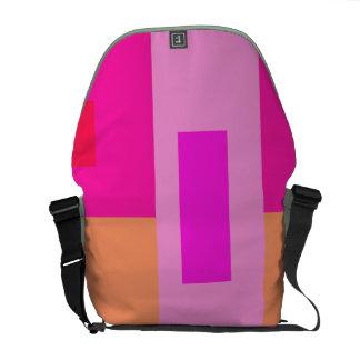 Geometric Abstract Art Minimal Pink Messenger Bag