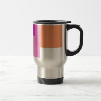 Geometric Abstract Art Minimal Pink Coffee Mug